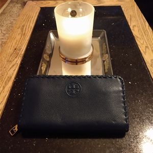 Tory Burch leather whipstitch wallet
